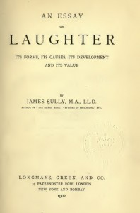 James Sully Essay on Laughter