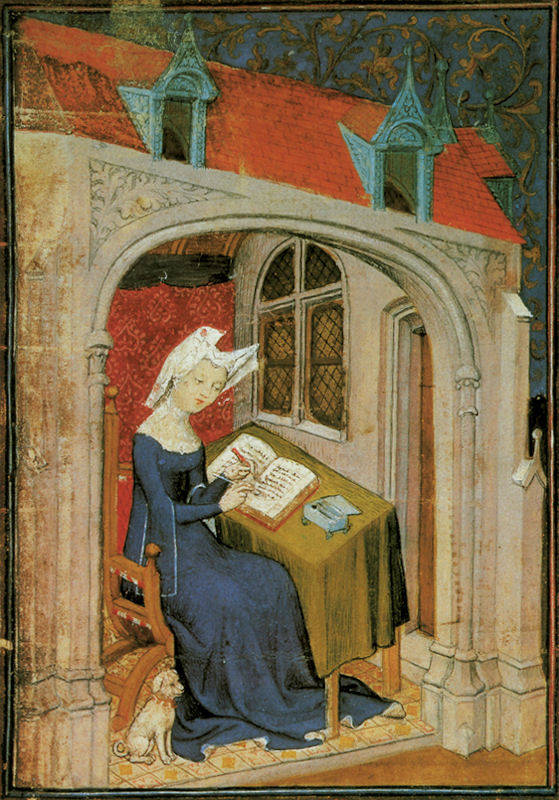 Christine de Pizan reading