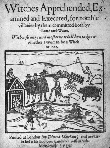 Witches Apprehended, 1613, from the Wellcome collection