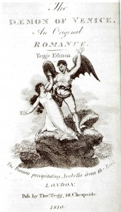Illustration from the pirated chapbook of Zofloya, The Dæmon of Venice (1810)