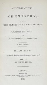 title page of Marcet's 'Conversations on Chemistry'