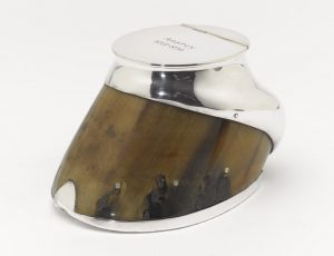 Silver inkwell made from the hoof of 'Anstey' the horse of Colonel Guy Hamilton, © National Army Museum. http://www.nam.ac.uk/online-collection/detail.php?acc=1995-07-46-