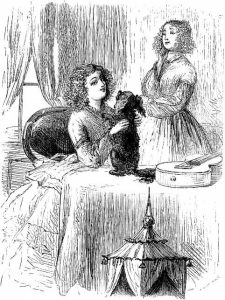 Sol Eytinge, 'Dora and Miss Mills'. Wood engraving from Dickens's David Copperfield in the Ticknor and Fields (Boston), 1867, Diamond Edition [Victorian Web].