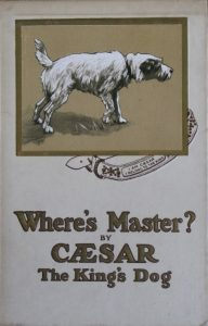 Book cover of Where's Master by Caesar the King's Dog