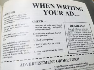 'When writing your ad' guidelines